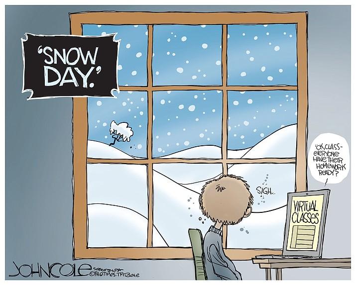 Editorial cartoon (1): Dec. 24, 2020