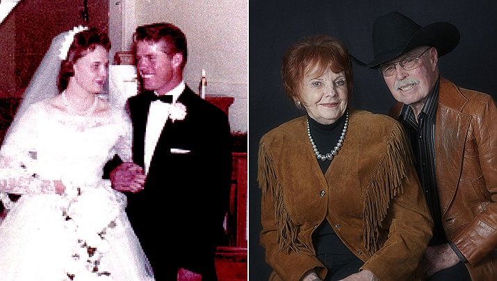 Jim and Pat Stotts were married on Dec. 23, 1960, in the local Methodist Church in Clarkdale, Arizona. (Courtesy)