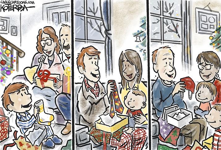 Editorial cartoon (2): Dec. 28, 2020