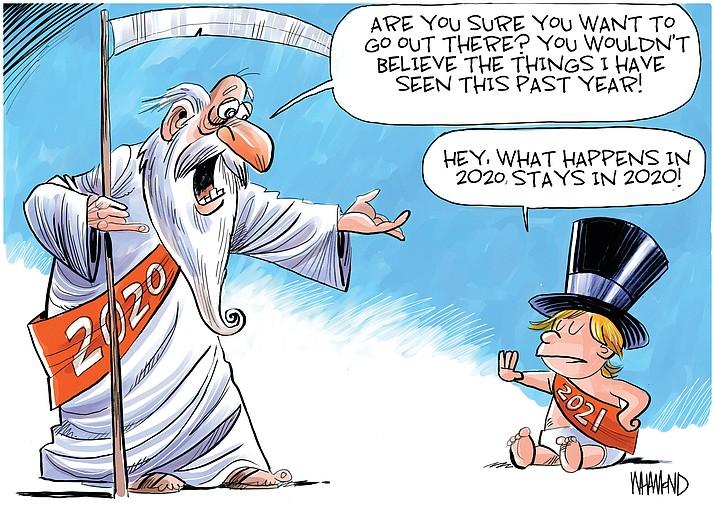 Editorial cartoon (1): Dec. 29, 2020
