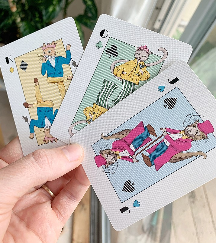 Three of The Dapper Cats Playing Cards. (Courtesy)