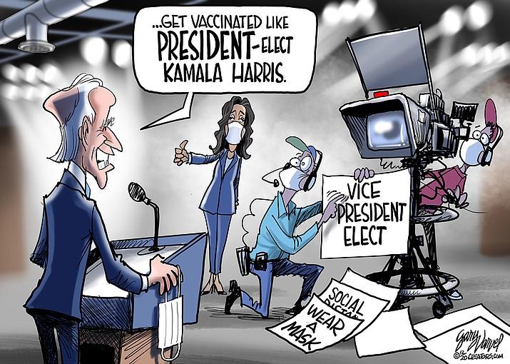 Editorial cartoon (1): Jan. 1, 2021