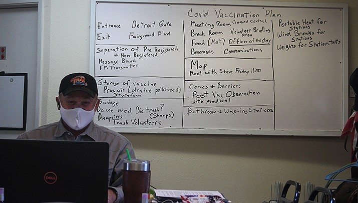 Mohave County Fairgrounds Manager Tim Woods has been helping plan for conducting coronavirus vaccinations at the fairgrounds when supplies become available.  (Photo by Agata Popeda/Kingman Miner)