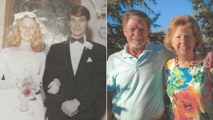 Tim and Gail Tracey were married in their home town of Phoenix, Arizona, in January 1971.(Courtesy)