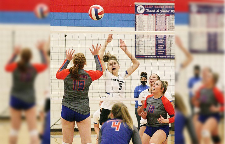 Camp Verde senior middle blocker Lily-Anne Smejkal was voted second team 3A North Central all-region for 2020. VVN/Bill Helm
