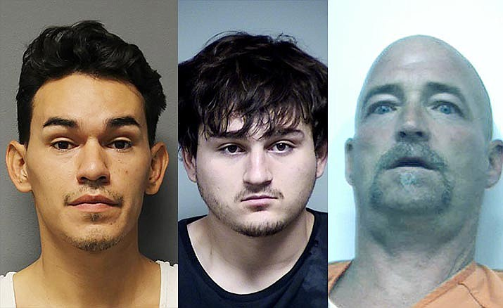 From left, Thomas Flores Lopez, Jose Bermudez-Felix and John Gregory Lukasik. YCSO courtesy photos