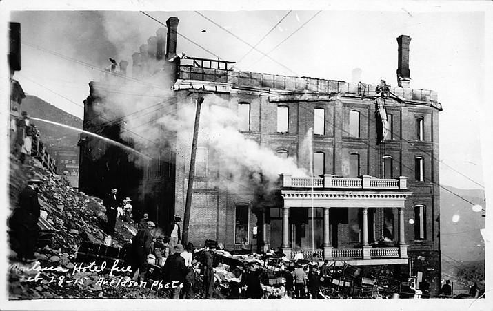 The Yavapai County Board of Supervisors granted incorporation for Jerome after fires burned buildings and residents wanted better fire protection, according to town historical reports. (Courtesy/Jerome Historical Society)