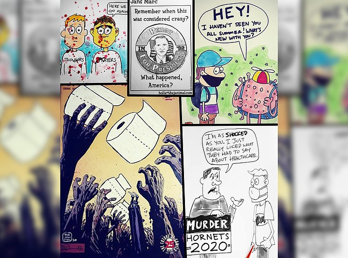 Jan Marc Quisumbing, cartoonist, illustrator, and Cottonwood Public Library's teen librarian, will teach a virtual cartooning workshop from 3 p.m. until 4:30 p.m. Friday, Jan. 22 on Zoom.