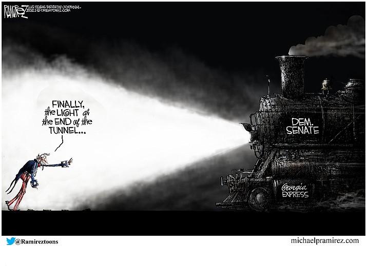 Editorial cartoon (1): Jan. 9, 2021