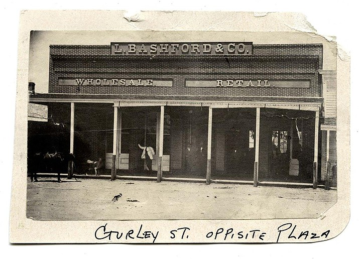 L. Bashford Store. L. Bashford and Co. store front. Call# 1400.8154.0002 (Sharlot Hall Museum Research Center/Courtesy)