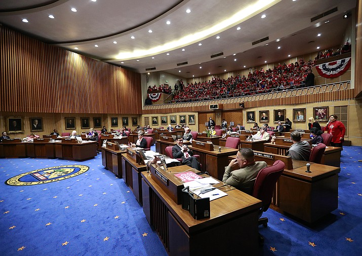 State senators consider in March 2020 shutting down Arizona legislative session early, due to disruptions caused by the coronavirus. The 2021 session will open Monday, Jan. 11. (Courier, file)