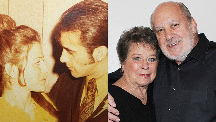 Linda and Peter Koteas of Prescott were married on Jan. 23, 1971, pictured here then and now. (Courtesy)