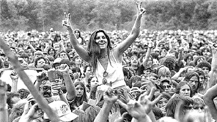 LaGrange County, Indiana, has repealed a 1971 law that was intended to block huge gatherings like the 1969 Woodstock music festival in New York state. (Woodstock/AP file)