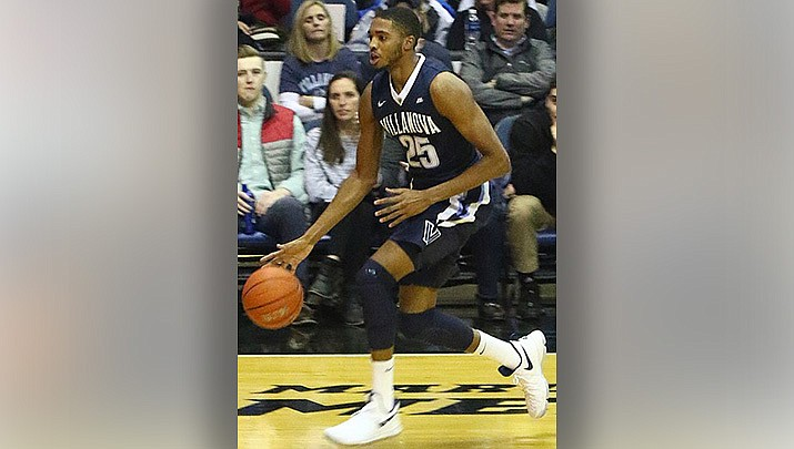 Mikal Bridges, shown while playing college basketball at Villanova, netted a career-high 34 points to help the Phoenix Suns beat the Indiana Pacers 125-117 in Indianapolis on Saturday, Jan. 8. (Photo by TonyTheTiger, cc-by-sa-4.0, https://bit.ly/2K4FRdb)