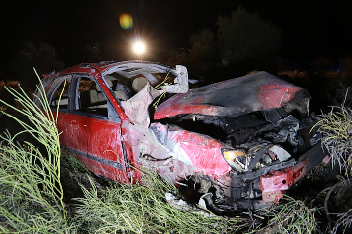 """Aaron James """"AJ"""" Williams, 36, of Clarkdale, was killed in this single-vehicle crash on Cornville Road, Sunday evening. Photo courtesy of Cottonwood PD."""