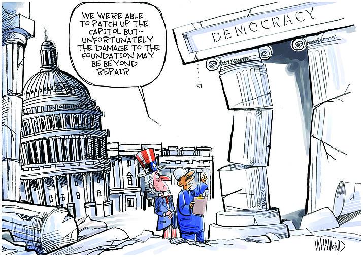 Editorial cartoon (2): Jan. 12, 2021