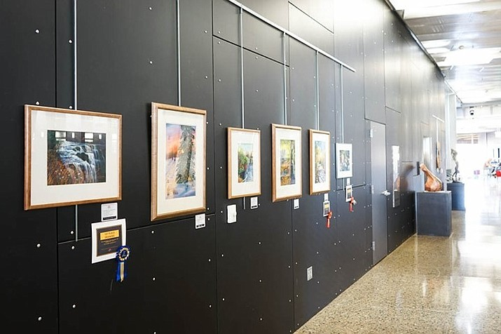 Professional or amateur local artists who work in 2D media are encouraged to apply for the Town of Prescott Valley Arts & Culture Commission's Public Art Exhibition Program. The display is on the first and second floors of the library. (Courtesy/Town of Prescott Valley)