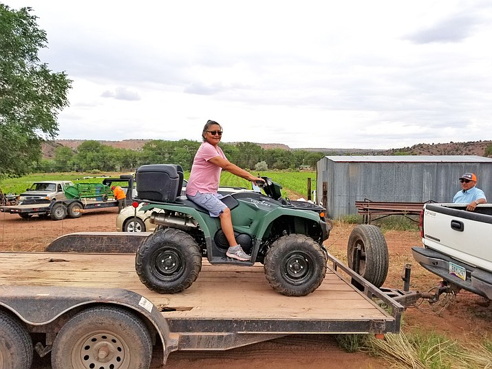 The Ganado Farm Board purchased an ATV in 2020 to help with water irrigation delivery to Ganado farmers. Prior to the purchase, farmers were using personal vehicles to help with irragation. (Photo/Ganado Farm Board)
