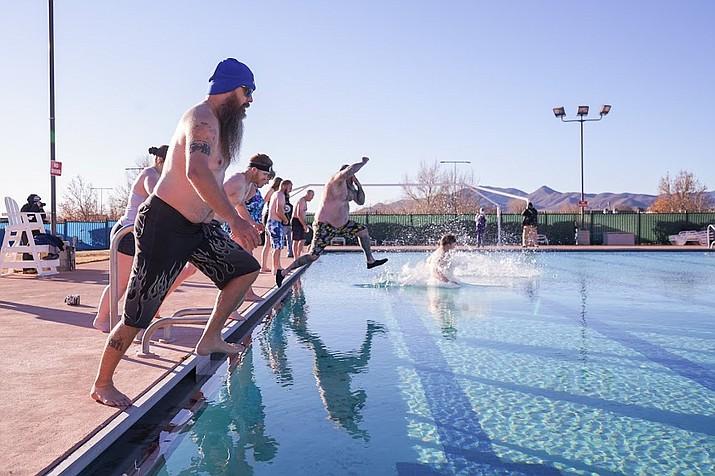 The Town of Prescott Valley held its annual Polar Bear Splash at Mountain Valley Splash pool on Jan. 9, 2021.  (LaToya Muse, Town of Prescott Valley/Courtesy)