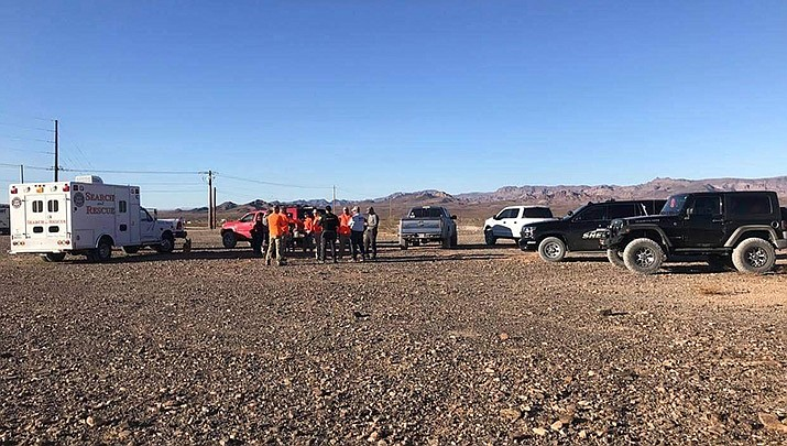 A 77-year-old Prescott man died in a rollover near Franconia Wash south of Yucca on Saturday, Jan. 9. (MCSO SAR courtesy photo)