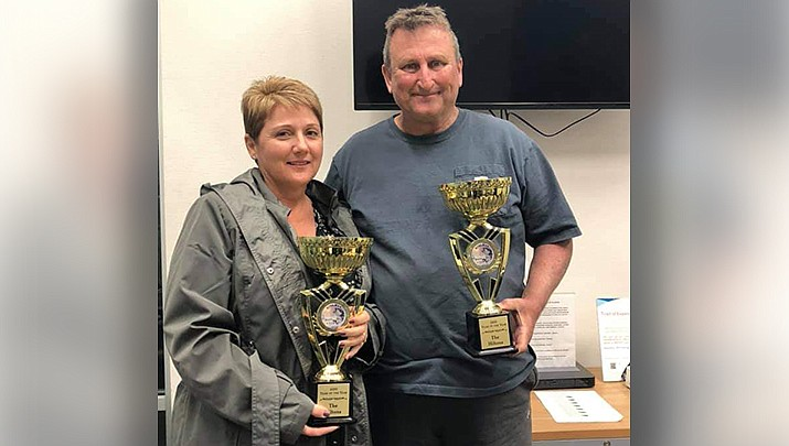 Shannon and Dave Hilton were the Kingman Bass Club's 2020 tournament season Team of the Year. (Courtesy photo)