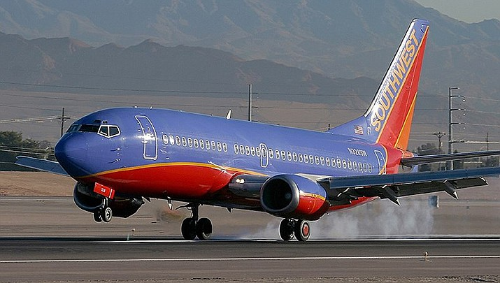 A Southwest Airlines flight arriving in Baltimore from Phoenix was taken to a remote section of the airport on Monday, Jan. 11 after the flight crew discovered a threatening note on the plane. (Public domain/Photo by https://bit.ly/3oEro6V)