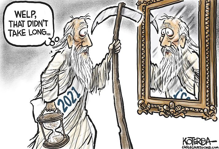 Editorial cartoon (2): Jan. 13, 2021