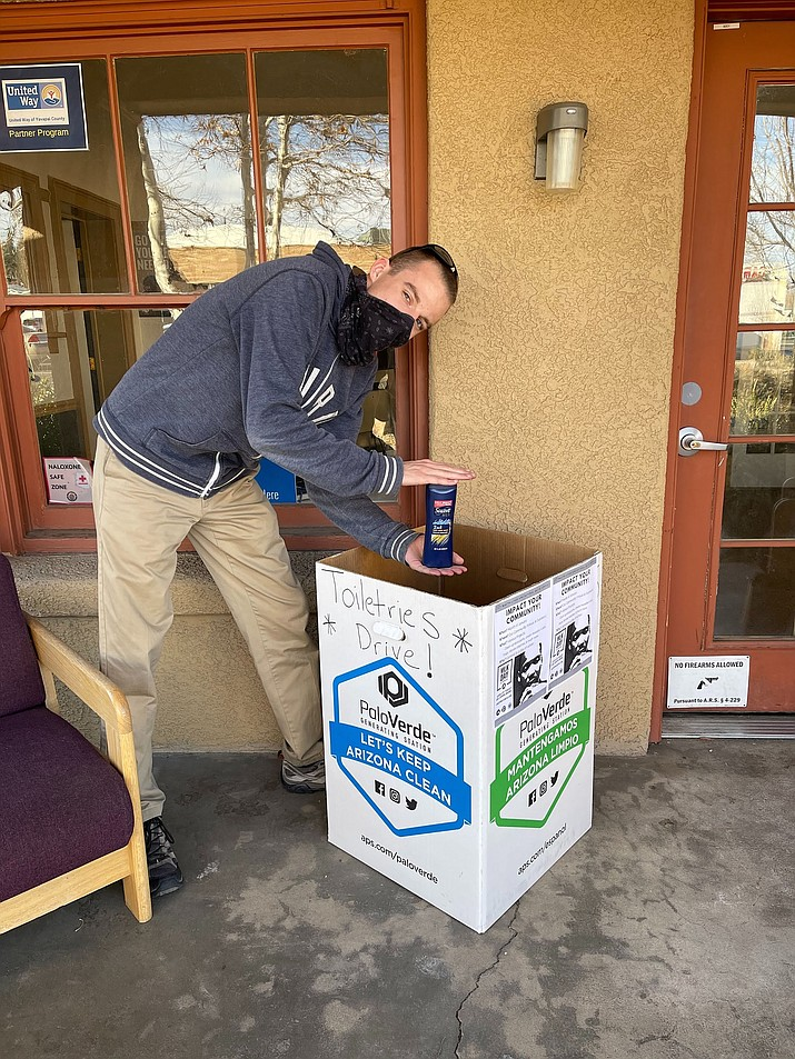 Sean Stevens of Arizona Serve makes the first donation to the initiative. (Courtesy)