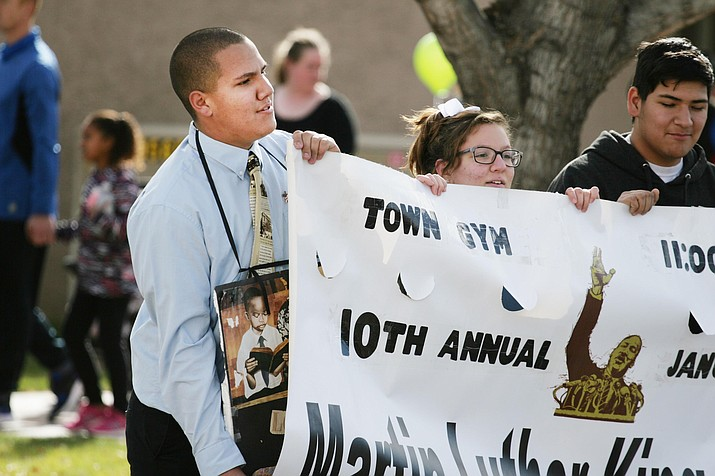 Since age 6, Chandler Plante has held Martin Luther King Jr. Day marches down Camp Verde's Main Street. VVN/Bill Helm