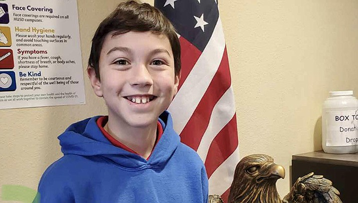Cooper from Liberty Traditional is this week's HUSD Student of the Week. (HUSD)