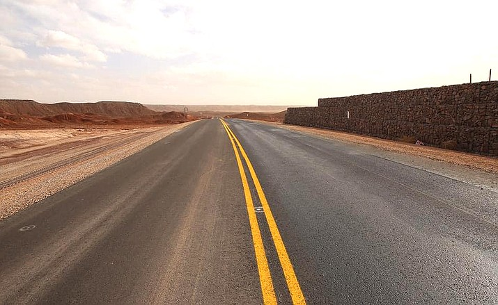 Nearly 11 miles of Navajo Route 27 have been paved by the Navajo Department of Transportation. The project cost $33.3 million. (Photo/Navajo Department of Transportation)