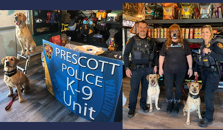 The Prescott Police Department is proud to announce that its K9 Officers and their partners will be attending an event hosted by the community's newest local pet supply shop, Preskitt's Pawz N Clawz, located at 1210 Gail Gardner Way. The event will be held from 10 a.m. to noon on Feb. 24, 2021. (Courtesy)