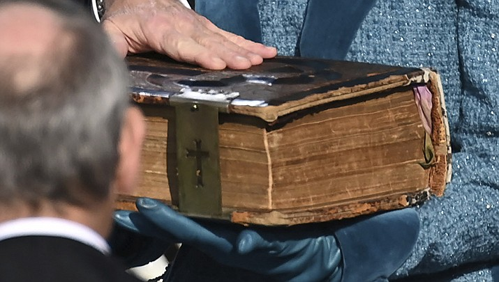 Joe Biden used the same family Bible at his presidential inauguration on Wednesday, Jan. 20 that he used when he was sworn in as vice president. (AP file photo)