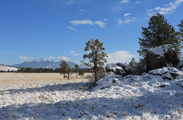 Two winter storm systems are set to drop 8-12 inches of snow in Williams this weekend. (Wendy Howell/WGCN)