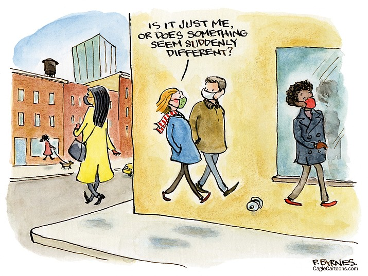Editorial cartoon (2): Jan. 25, 2021