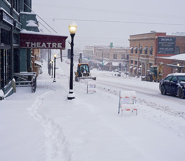 More than 2 feet of snow fell in February 2019, causing the City of Prescott to declare an emergency. There are two snow storms expected to hit the northern Arizona area from Saturday, Jan. 23, through Tuesday, Jan. 26, 2021. Look for potentially anywhere from 6 to 16 inches in the Prescott area by early Tuesday morning, Jan. 26. Watch dCourier.com for updates. (Cindy Barks/Courier, file)
