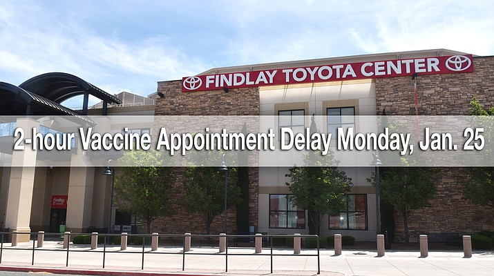 Due to expected weather conditions, there will be a two hour delay on COVID-19 vaccine appointments scheduled for Monday, Jan. 25, 2021, at the Findlay Toyota Center only. (Courier file)