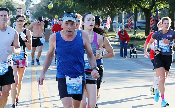 In January, Village of Oak Creek resident Paul Cooley ran his 32nd consecutive Houston Marathon. However, his 2021 jaunt was a virtual race, thanks to the COVID-19 pandemic. Courtesy photo