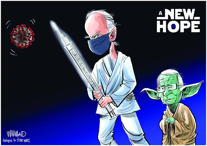 Editorial cartoon (1): Jan. 26, 2021