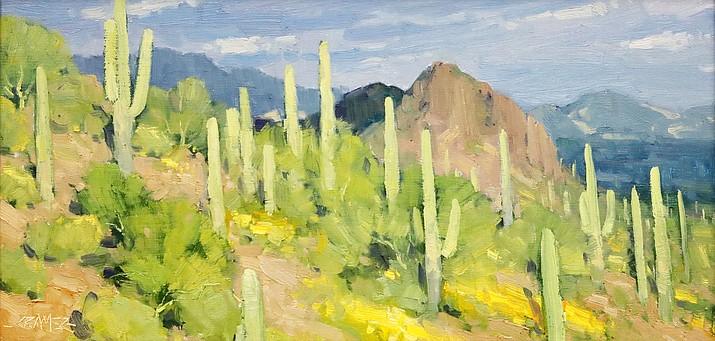 Standing in the Light by Bill Cramer, 12 x 16 oil.