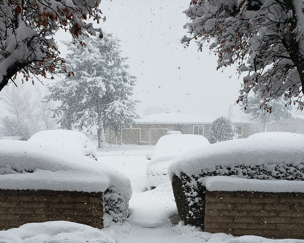 Photo taken Monday afternoon Jan. 25, in Prescott Valley. The view is of Spouse Dr. near Verde Vista Dr. Photo by Danielle O'Meara.
