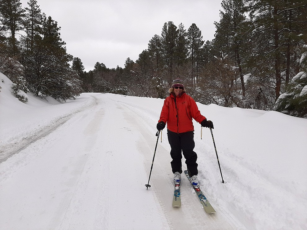 I went cross country skiing up White Spar Road. Photo submitted by Karen Nay.