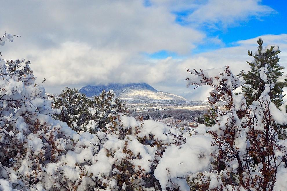 View of Granite Mountain from Watson Lake in Prescott, Arizona. Photo by Karen Shaw.