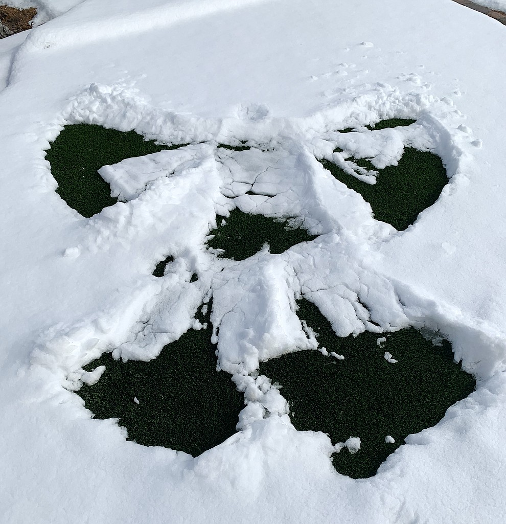A Snow Angel created on Tuesday, Jan. 26, 2031 by Paul Napoleone, Granite Dells. (Photo submitted by Julie Napoleone)