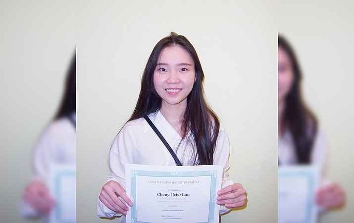 In December, Iris Kim earned her GED at the Camp Verde Adult Reading Program, also known as CVARP. Lim, who was born in Cottonwood but lived until 2018 in Malaysia, wants a career in hotel management. Courtesy photo
