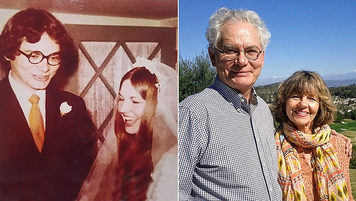 Joe and Barbara Gardner were married on Jan 30, 1971, in Phoenix and spent the first night of their honeymoon in Prescott at the Hotel St Michael. (Courtesy)