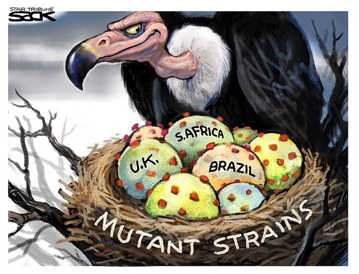 Editorial cartoon (1): Jan. 30, 2021