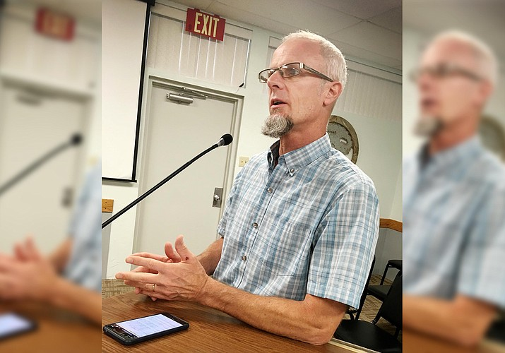 Wednesday, the Camp Verde Town Council is expected to approve the town's proposed budget calendar for FY 2021-2022. Pictured, Camp Verde Finance Director Mike Showers. VVN/Bill Helm