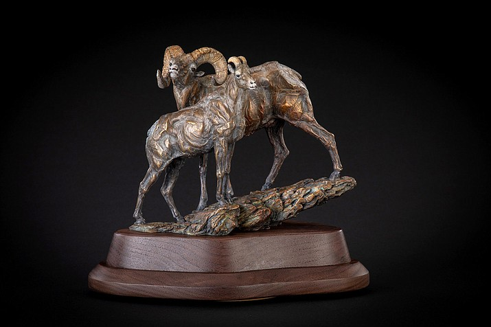 'Looking for Ewe,' bronze by Ken Rowe