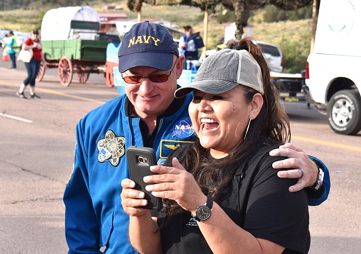 Sen. Mark Kelly takes part in the 2019 Navajo Nation Parade in Window Rock.  (Photo/Office of Mark Kelly)